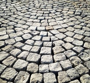 Picture of a cobblestone pattern